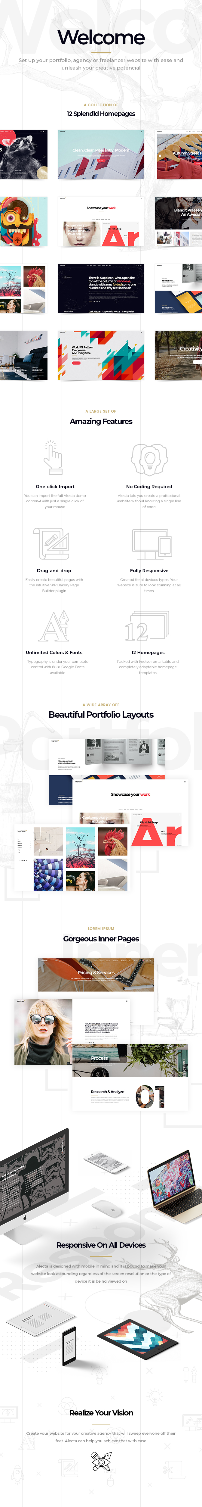 Alecta - Creative Agency Theme - 1