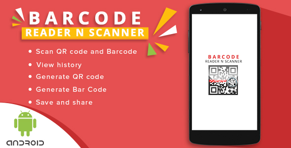 Android - QR/BAR CODE SCANNER AND BUILDER