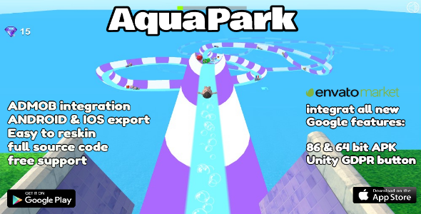 Photo of Get Aquapark – Unity 3D Game Template for Android & IOS Source Code Download