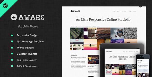 Photo of Get Aware – Responsive Wordpress Portfolio Theme Download
