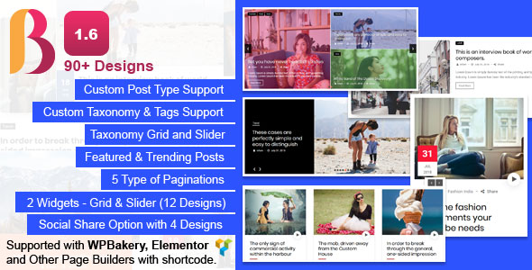 Blog Designer Pack Pro - News and Blog Plugin for WordPress