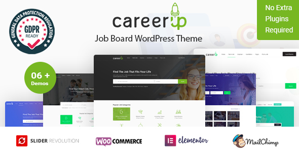 Photo of Get CareerUp – Job Board WordPress Theme Download