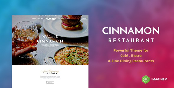 Photo of Get Cinnamon Restaurant Theme for WordPress Download