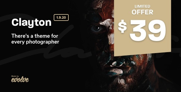 Photo of Get Clayton, an Elegant Theme for Photographers Download