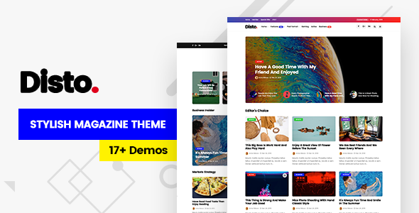 Photo of Get Disto – WordPress Blog Magazine Theme Download