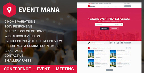 Photo of Get Event Management WordPress Theme Download