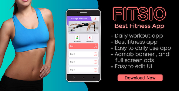 Photo of Get FITSIO : Workout & Yoga Fitness app Download