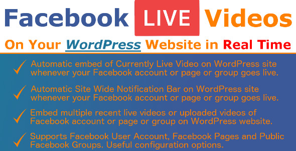 Photo of Get Facebook Live Video Auto Embed for WordPress Download