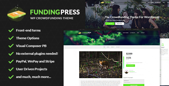 Photo of Get Fundingpress – The Crowdfunding WordPress Theme Download