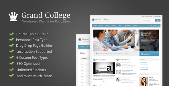 Photo of Get Grand College – Wordpress Theme For Education Download