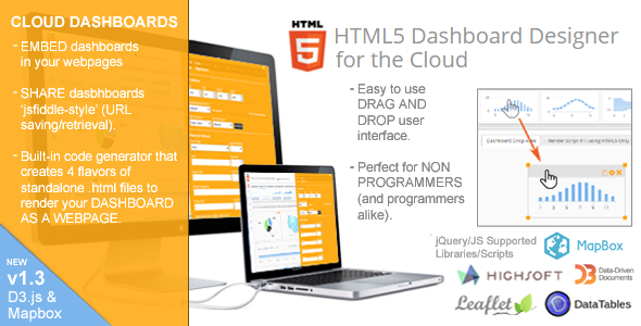 Photo of Get HTML5 Dashboard Designer (Runs on the Cloud – 100% source code included) Download