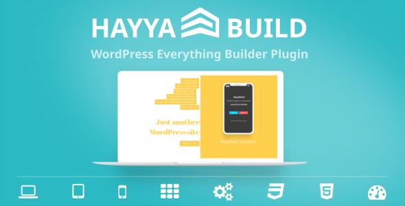 Photo of Get HayyaBuild – WordPress Everything Builder Plugin Download