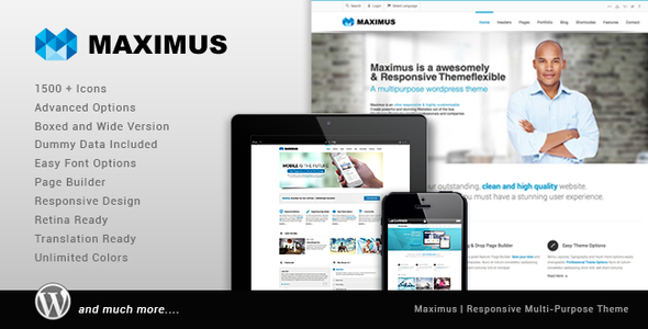 Photo of Get Maximus – Responsive Multi-Purpose Theme Download