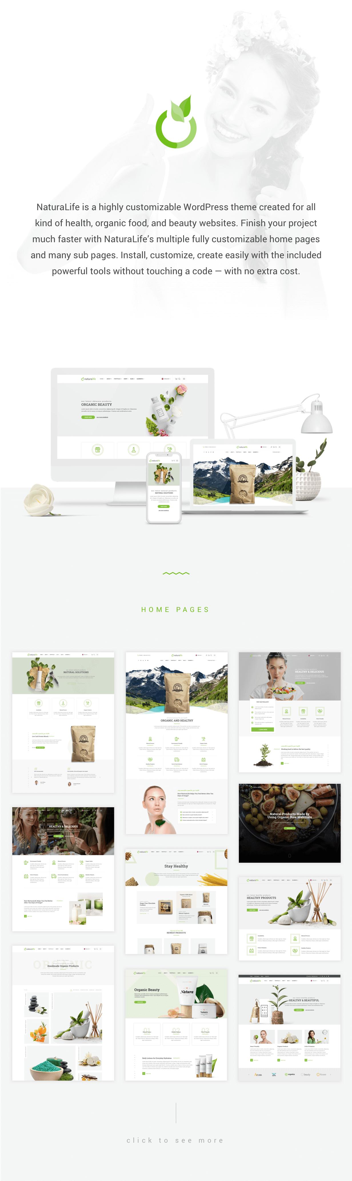 NaturaLife | Health & Organic WordPress Theme - 1