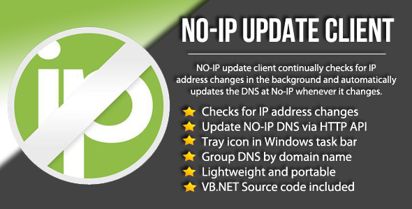 Photo of Get No-IP DNS Update Client + Source Code Download