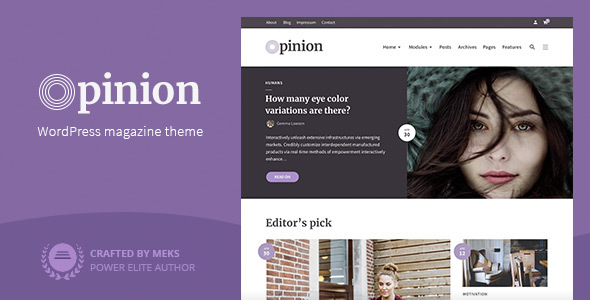 Photo of Get Opinion – Magazine WordPress Theme Download