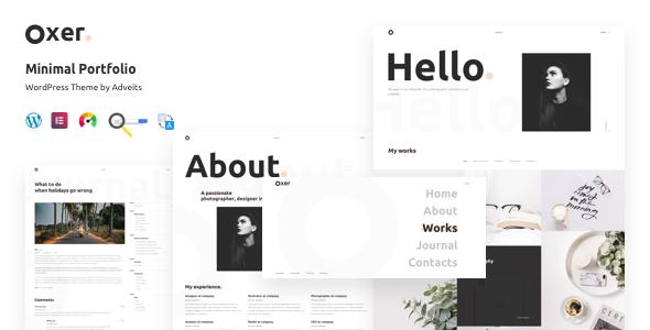 Photo of Get Oxer – Minimal Portfolio WordPress Theme Download
