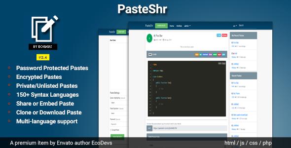 Photo of Get PasteShr – Text Hosting & Sharing Script Download