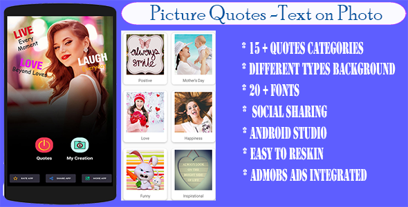 Photo of Get Photo Quote Creator – Text on Photo Editor Download