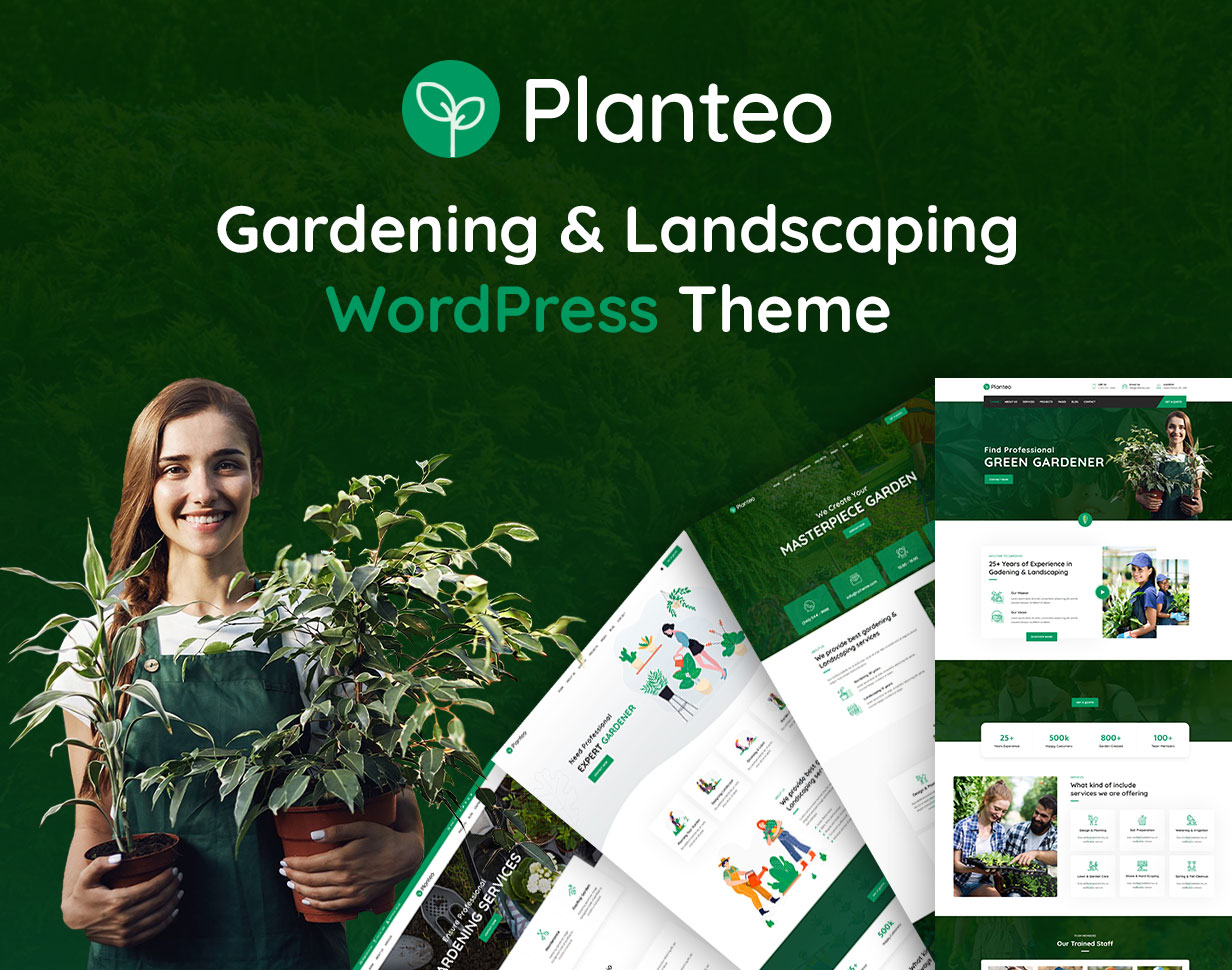 Planteo - Gardening & Landscaping WordPress Theme