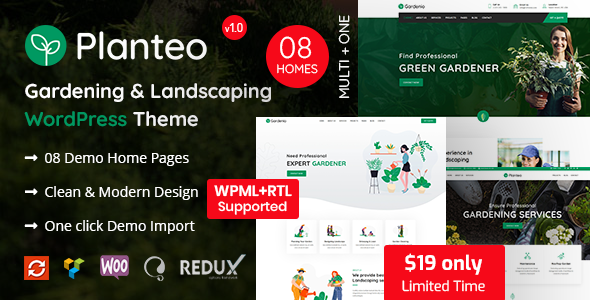 Photo of Get Planteo – Gardening and Landscaping WordPress Theme Download
