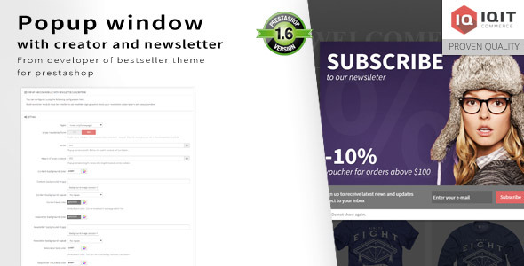 Photo of Get Popup window editor with newsletter Download