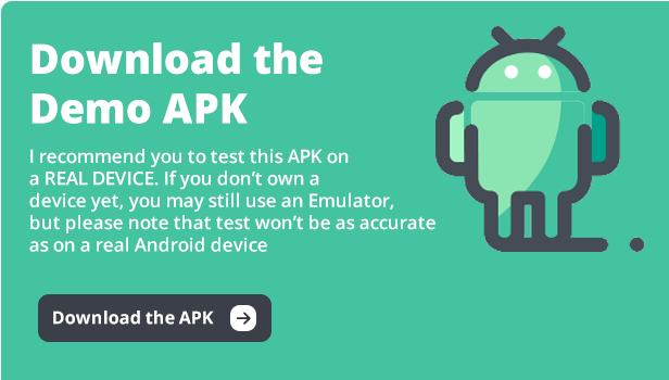 download the demo APK of QRcode Scanner android template