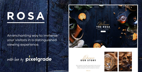 Photo of Get ROSA 1 – An Exquisite Restaurant WordPress Theme Download