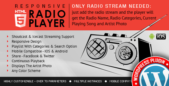 Photo of Get Radio Player Shoutcast & Icecast WordPress Plugin Download