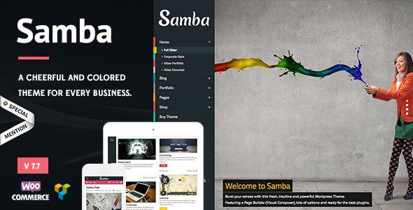 Photo of Get Samba – Colored WordPress Theme Download