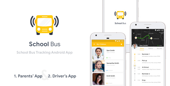 Photo of Get School Bus Tracking Android App Template (XML Code) Download