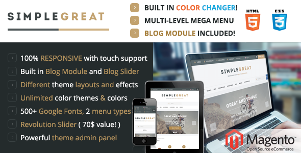 Photo of Get SimpleGreat – Premium Responsive Magento theme! Download