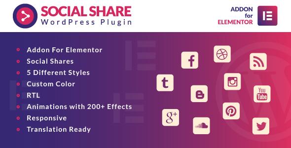 Photo of Get Social Share for Elementor WordPress Plugin Download