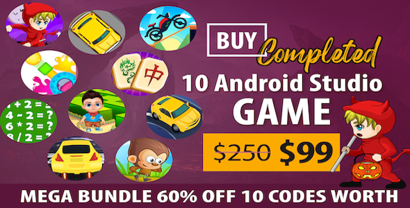 Photo of Get Special Bundle Offer For 10 Games Code 60% OFF+ Ready For Publish + Android Download
