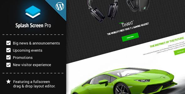 Photo of Get Splash Screen Pro for WordPress Download