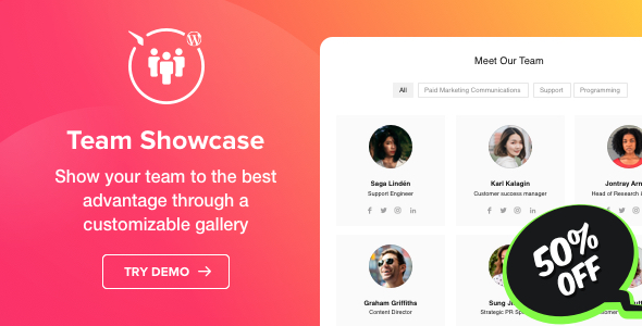 Photo of Get Team Showcase – WordPress Team Showcase plugin Download