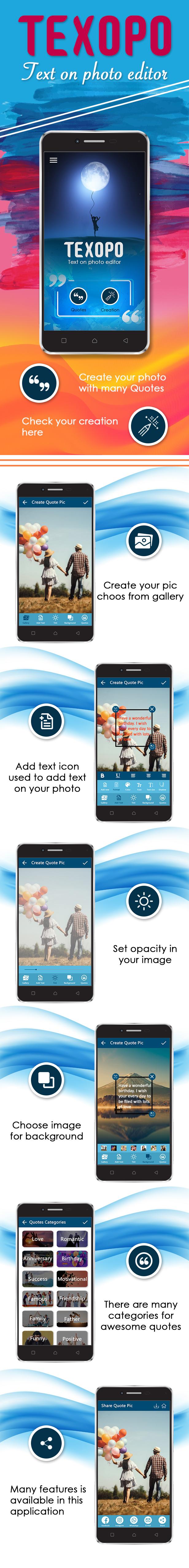 Texopo - text on photo Quote creator app - 1