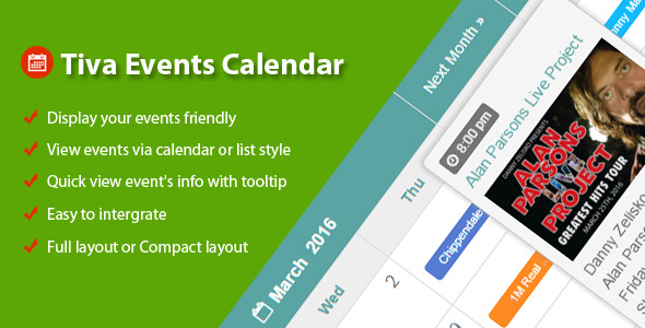 Photo of Get Tiva Events Calendar For Wordpress Download