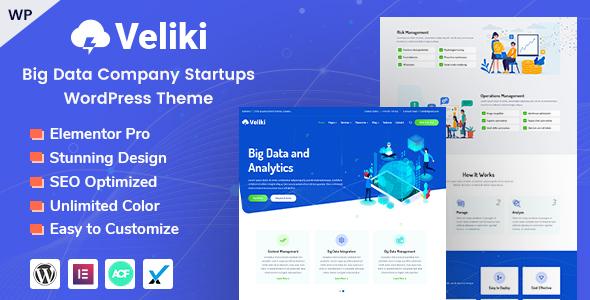 Photo of Get Veliki – Big Data Company WordPress Theme Download