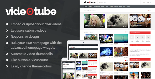 Photo of Get VideoTube – A Responsive Video WordPress Theme Download