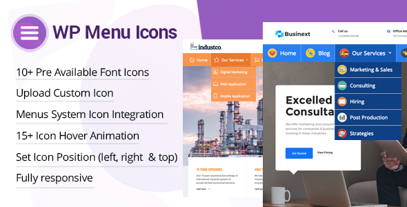 Photo of Get WP Menu Icons – Effectively Add & Customize Icons For WordPress Menus Download