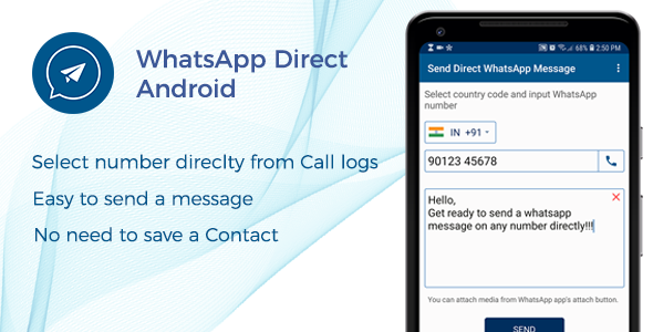 Photo of Get WhatsApp Direct – Send Message Without Contact Android Code Download