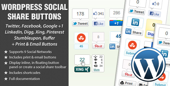 Photo of Get WordPress Social Share Buttons Download