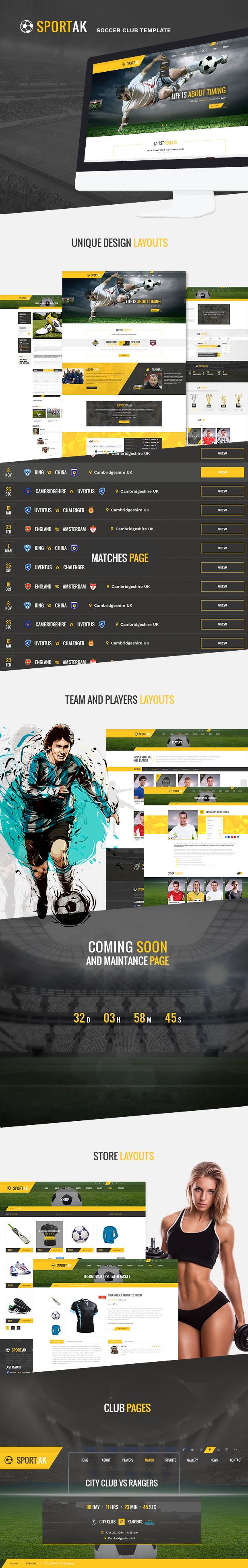 WordPress Sports Theme - SportAK - 1