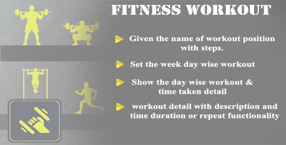 Photo of Get Workout Fitness Android Application Full Source code With ADMOB Download