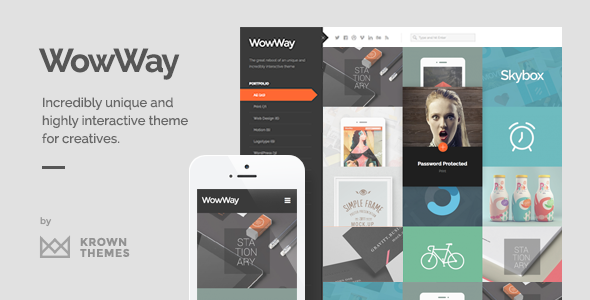 Photo of Get WowWay – Interactive & Responsive Portfolio Theme Download