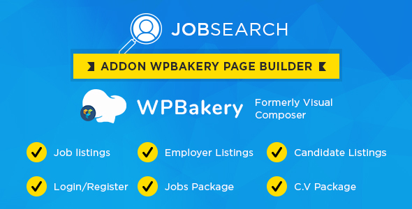 Photo of Get Wp JobSearch Plugin Short-codes Addon For Wp Bakery Page Builder Plugin Download