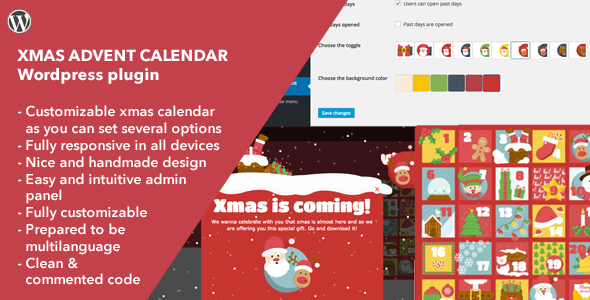 Xmas Advent Calendar - Wordpress Plugin