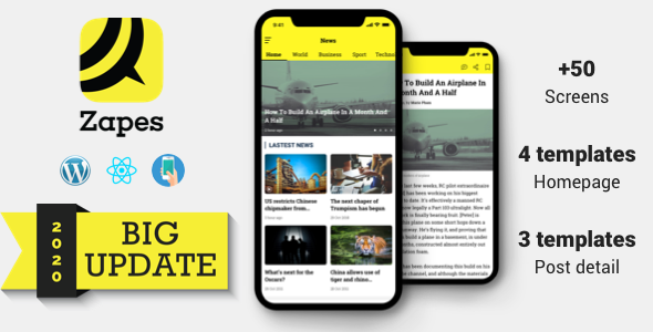 Photo of Get Zapes – React Native mobile application for Wordpress Download