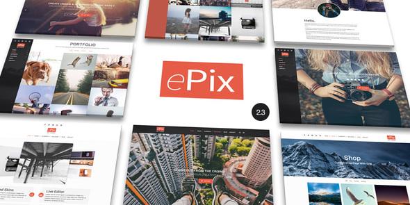 Photo of Get ePix – Fullscreen Photography WordPress Theme Download